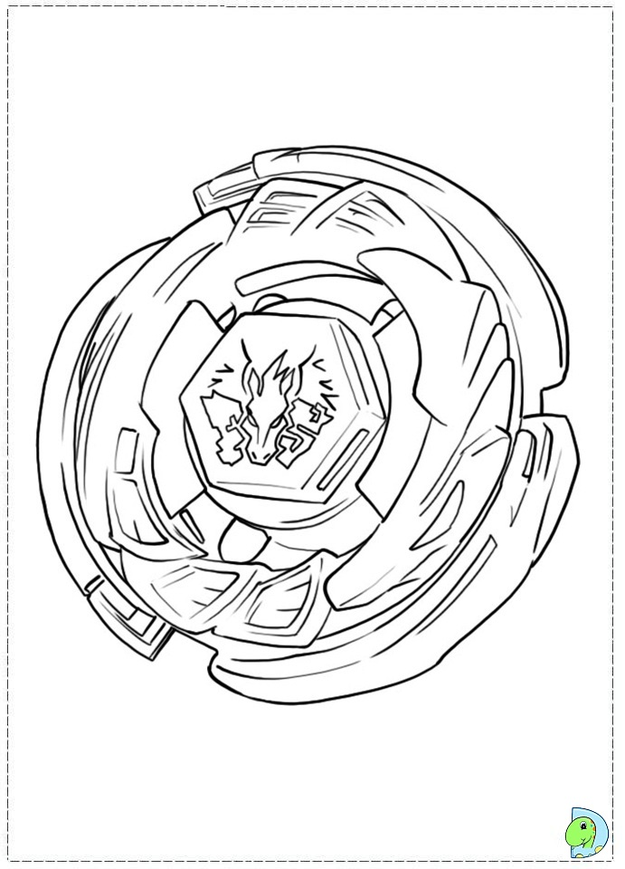 Beyblade Coloring page- DinoKids.org