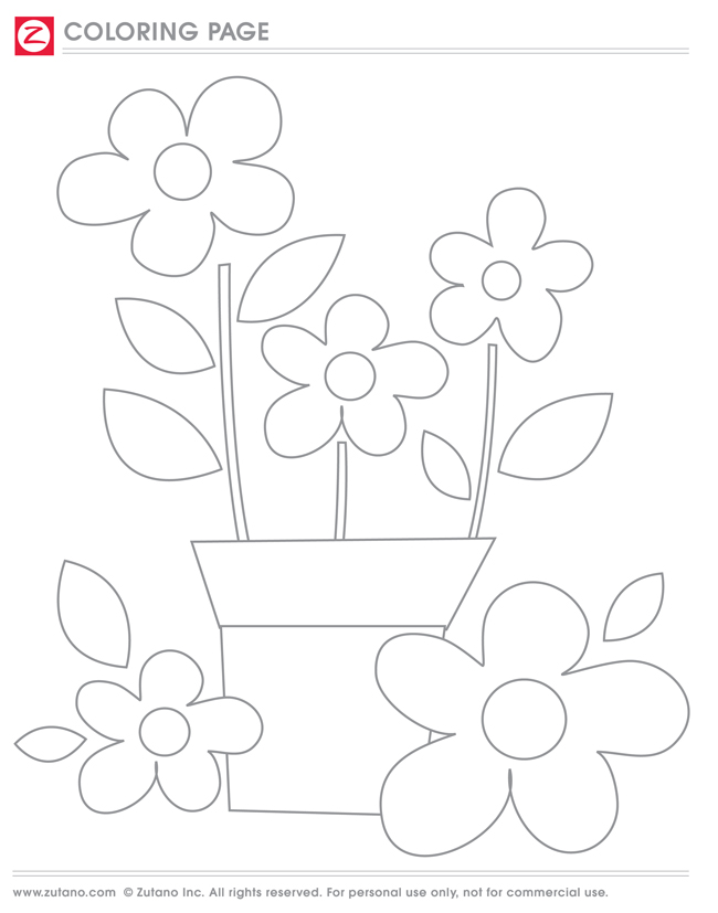 TBT Coloring Page: Flower Box | blog.zutano.com