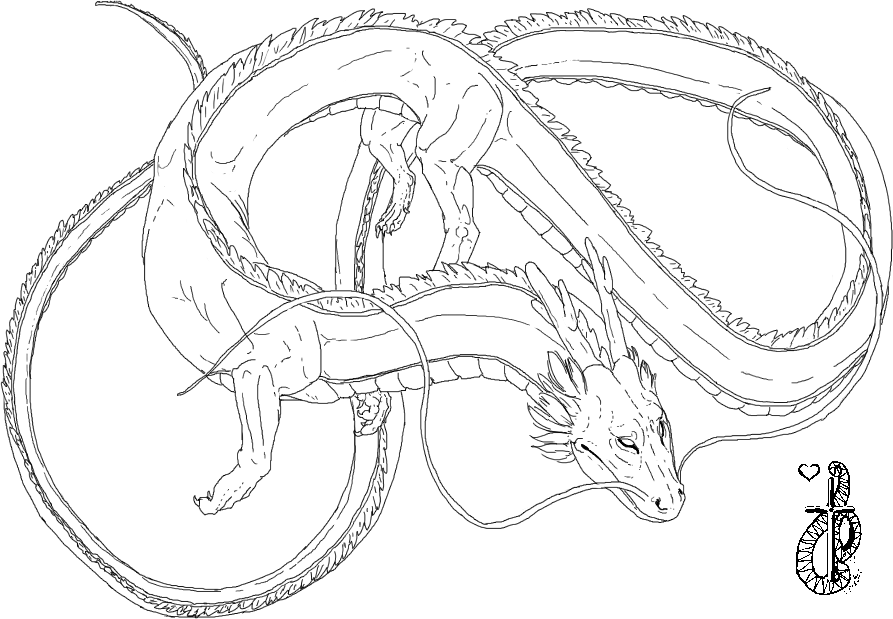 deviantART: More Like Dragon line art by Airy-