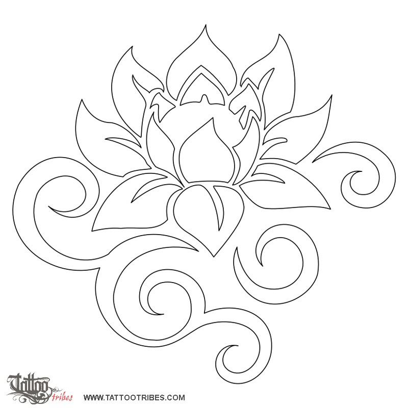 strong-lotus-stencil.jpg (800×800) | Tattoo Inspiration | Pinterest