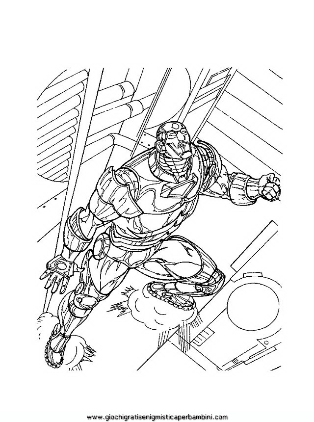 Disegni di iron man az colorare for Disegni da colorare iron man