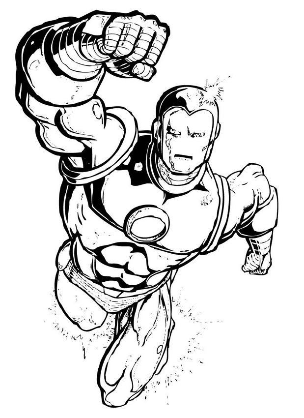 Iron Man Coloring Pages For Kids | Color Page