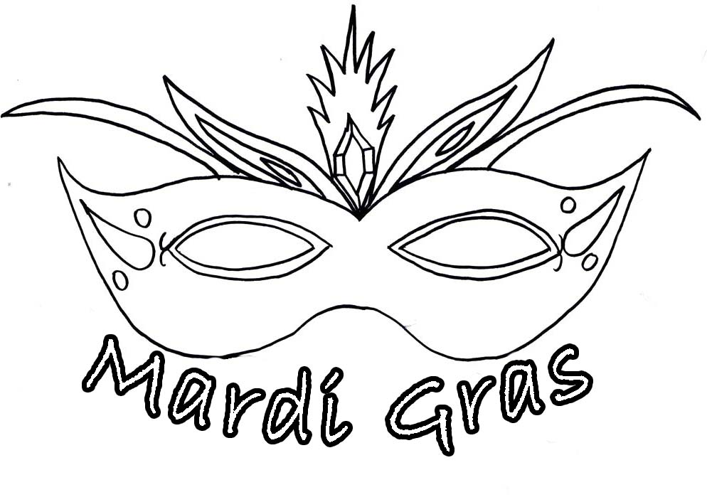Mask Mardi Gras Coloring Pages Pictures - Mardi Gras ...