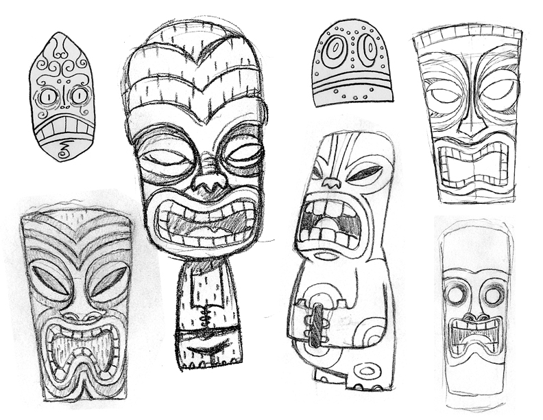 tiki bar Colouring Pages