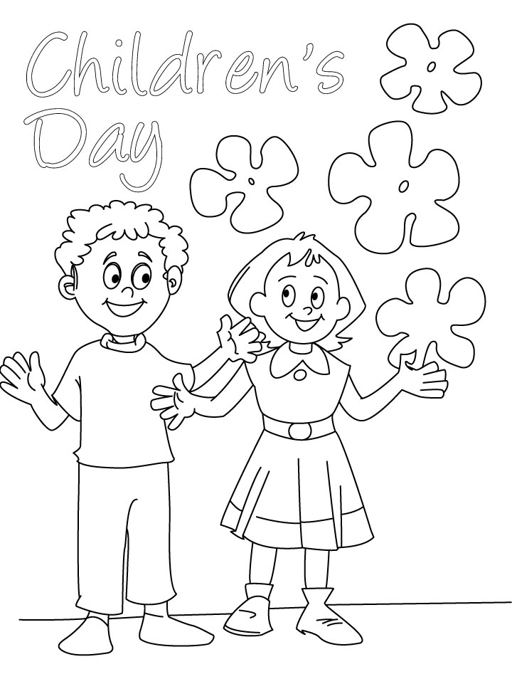 Children Day Coloring Pages for Kids | Coloring