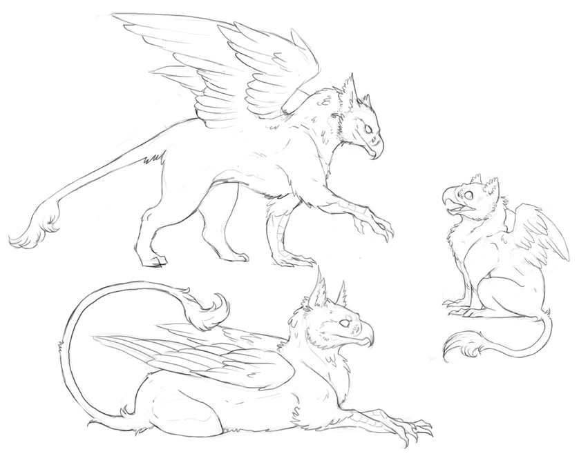 3_gryphon_sketches__commission ...