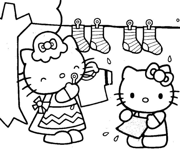 I disegni da colorare di Hello Kitty