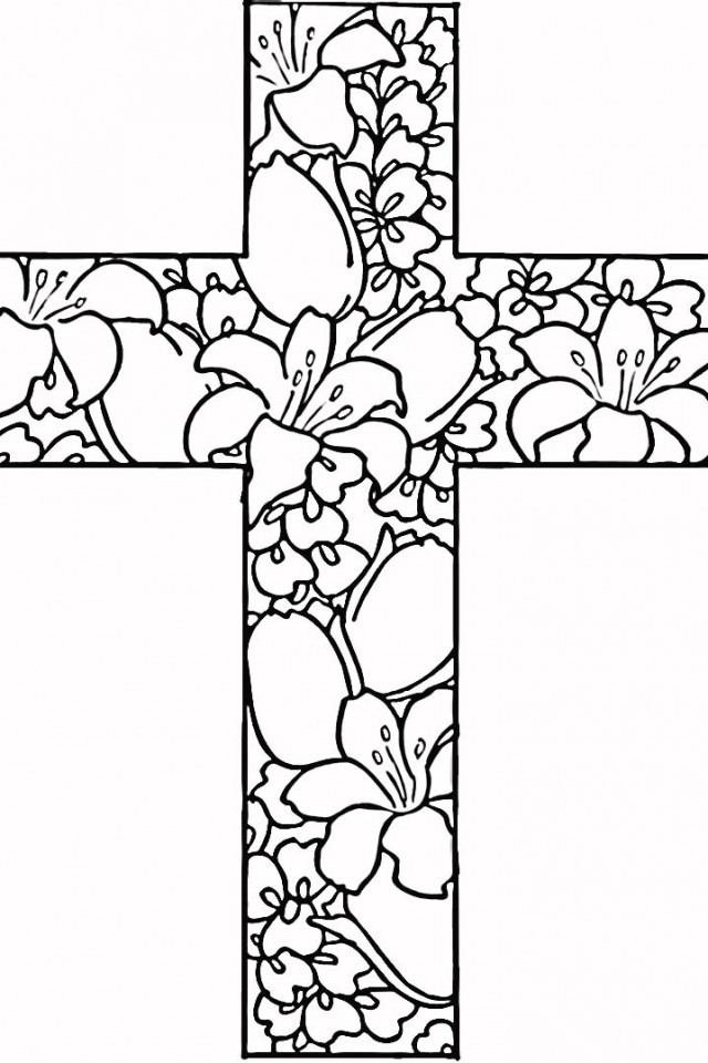 Free Printable Wooden Cross Coloring Pages 640×960 #9506 Disney ...
