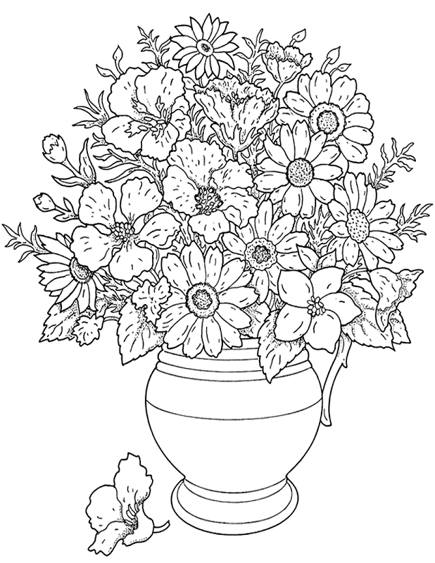 Flower Coloring Pages | Top Coloring Pages