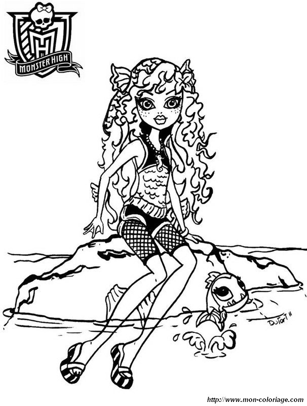 Colorare Monster High, disegno monster high 22