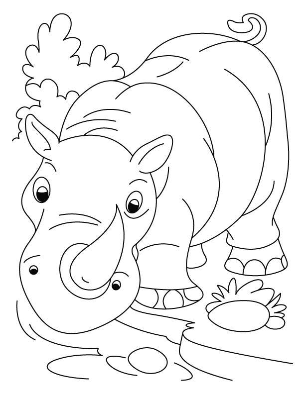 Rhinoceros Coloring Page | Animal Coloring Pages | Kids Coloring ...