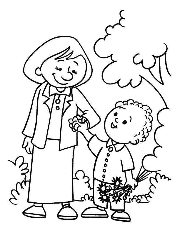 Mothers you are my best master and guide coloring page | Download ...
