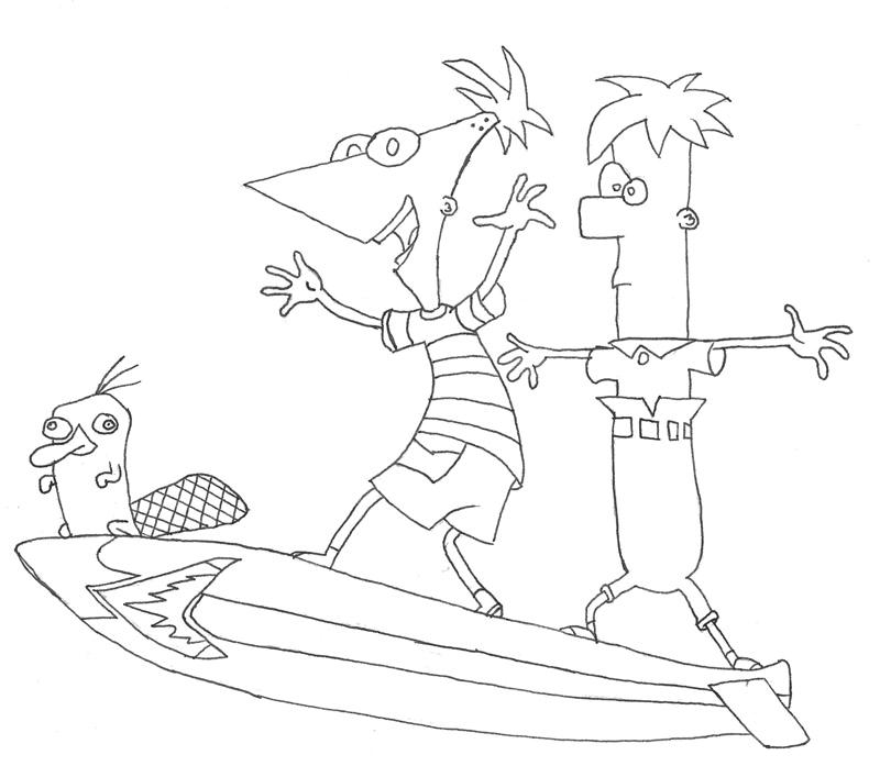 Phineas And Ferb Meap Coloring Pages