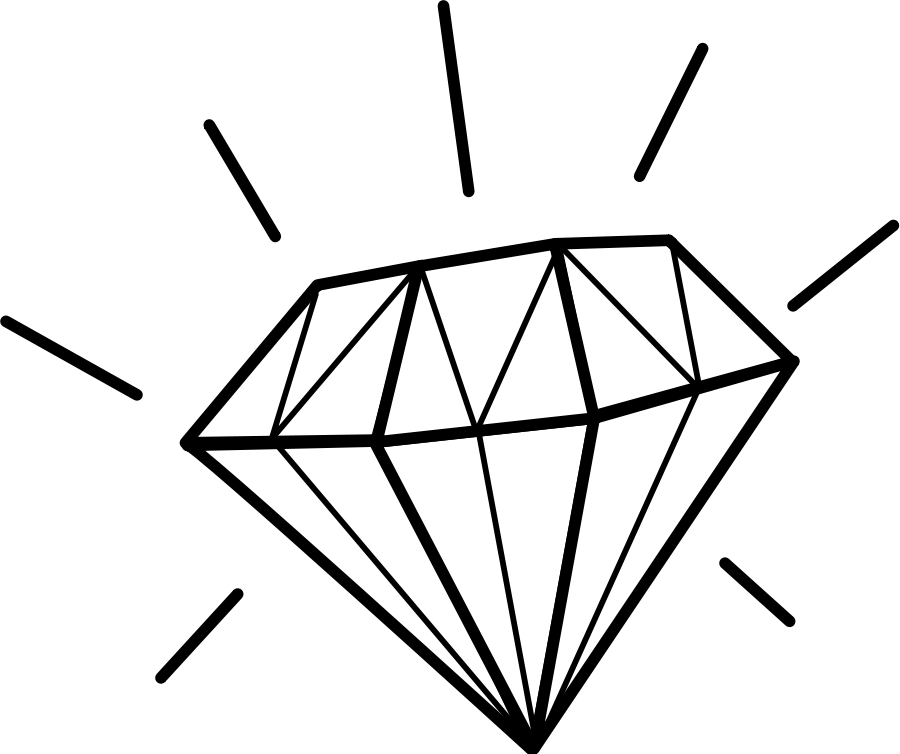 Pix For > Gems Clipart Black And White