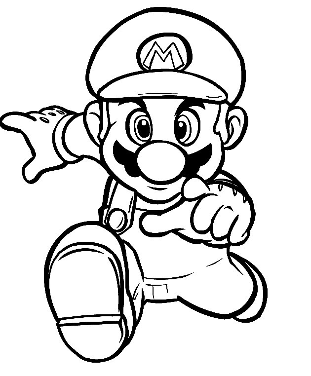 per mario bros wii Colouring Pages