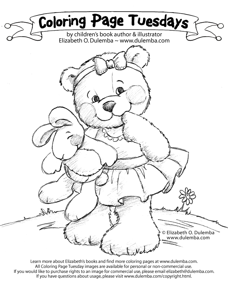dulemba: Coloring Page Tuesday - Cutie Bear