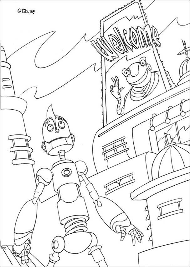 Printable robot coloring pages Keep Healthy Eating Simple