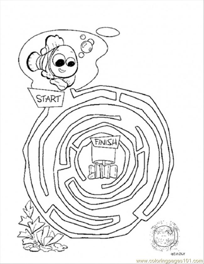 Coloring Pages Maze (Cartoons > Finding Nemo) - free printable ...