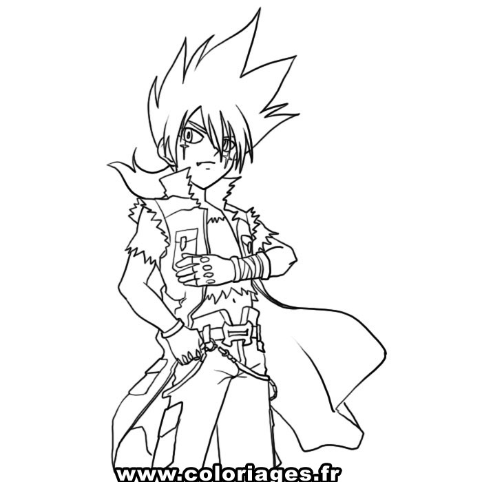 Ryuga beyblade Colouring Pages