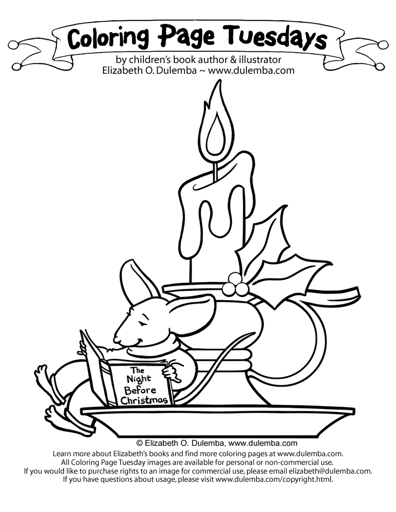 dulemba: Coloring Page Tuesday - Christmas Candle