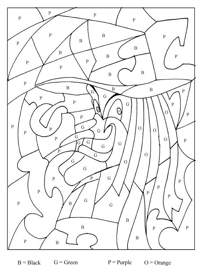 Halloween Coloring Pages of Color By Letter Activity | Coloring