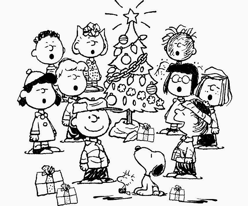 Coloring Pages Charlie Brown Christmas Coloring Pages And Clip Art
