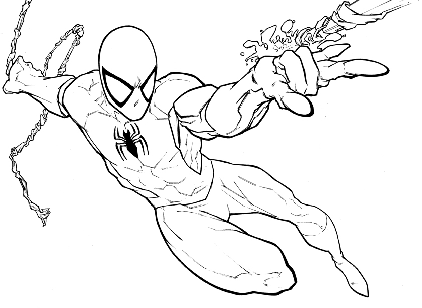 SPIDERMAN COLORING: SPIDERMAN COLOURING BOOK PAGES TO PRINT AND COLOUR