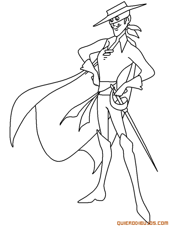 Zorro disney Colouring Pages