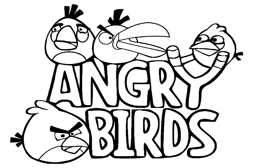 Angry Birds coloring pages overview with all the sheets of these ...