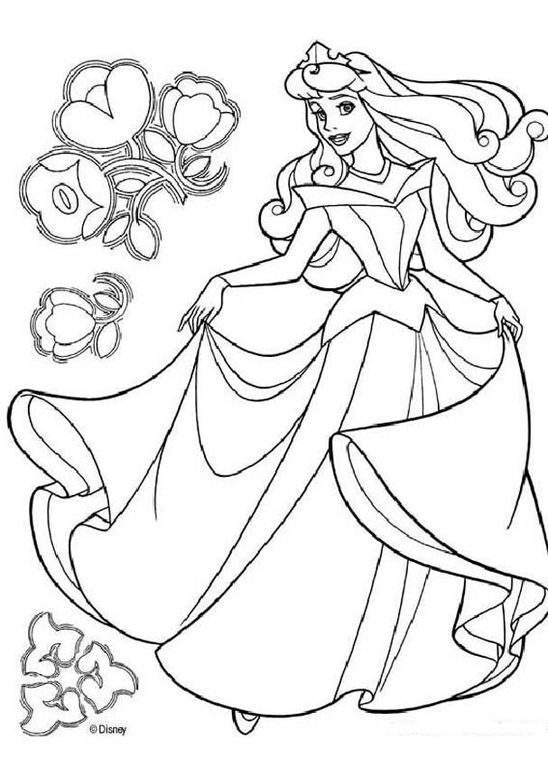 Sleeping Beauty coloring pages - Princess Aurora dancing