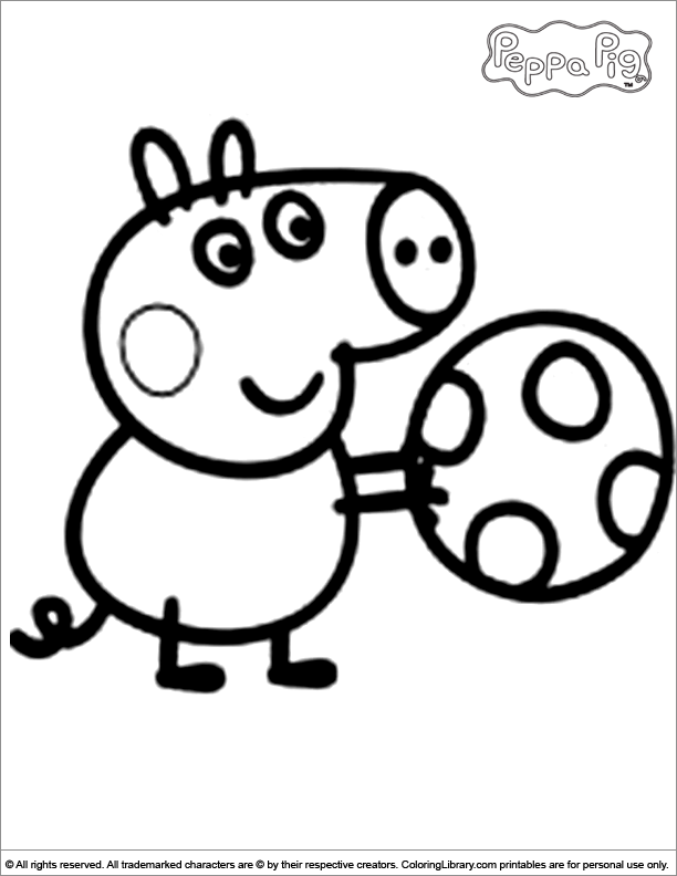 pappa pig in the sonw Colouring Pages (page 3)