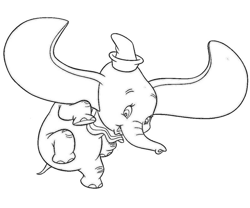 dumbo coloring page - dumbo 2 az colorare