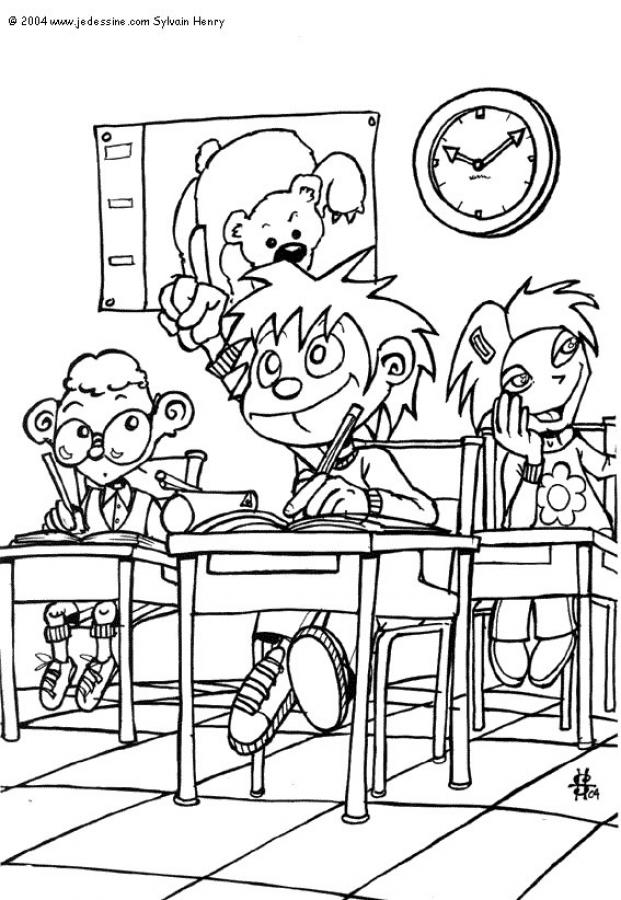CLASSROOM SCENES coloring pages - Drawing lesson