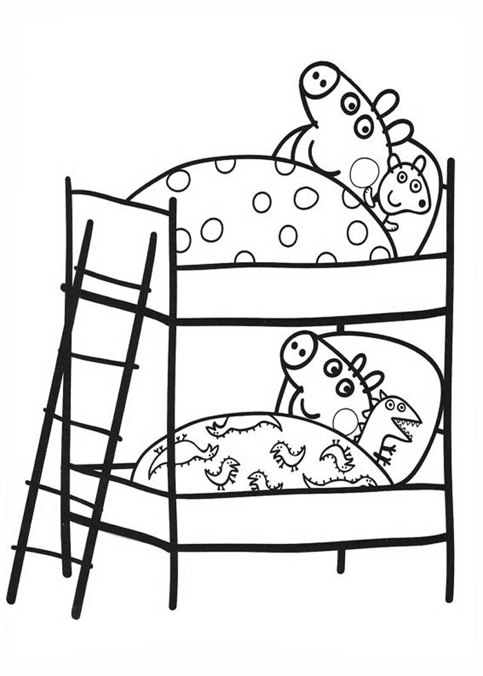 Rebecca Peppa Pig Colouring Pages (page 2)