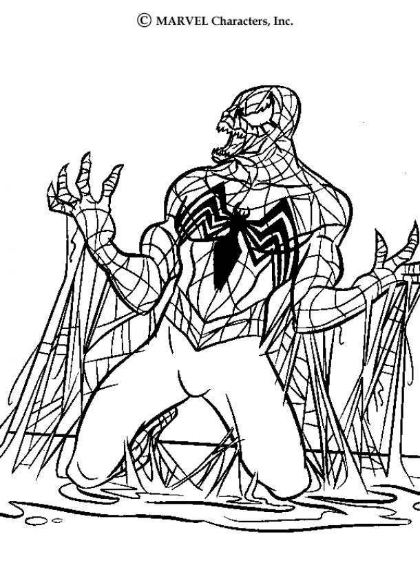 SPIDER-MAN coloring pages - Venom