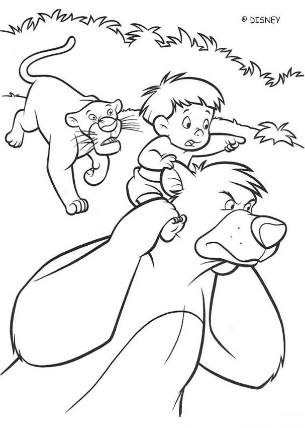 THE JUNGLE BOOK 2 Disney movie coloring books - RANJAN with BALOO