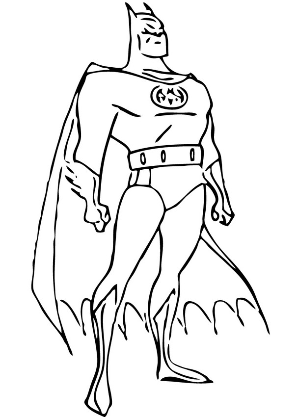 BATMAN coloring pages - Batman posture