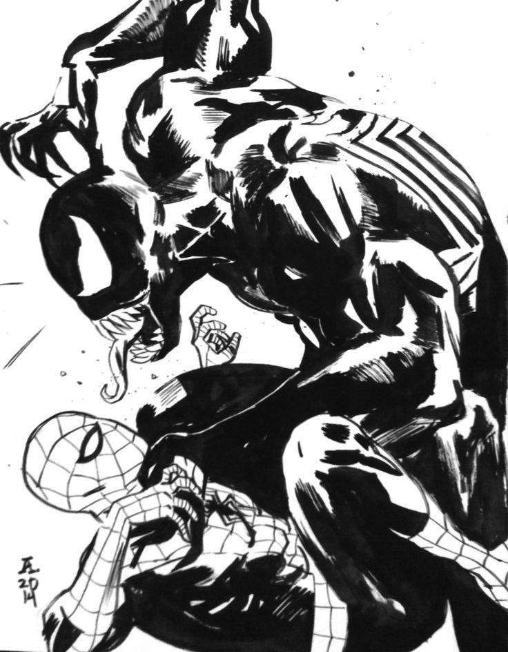 Spider-Man vs. Venom by Paul Azaceta | Venom & Carnage & Toxin - Symb…