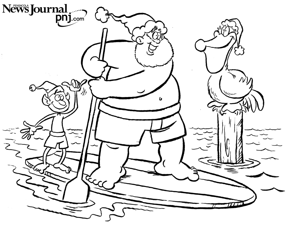 Color this: Pensacola-themed Christmas scenes | Pensacola News ...
