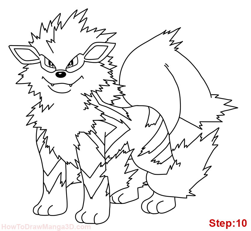 arcanine coloring pages - photo#7