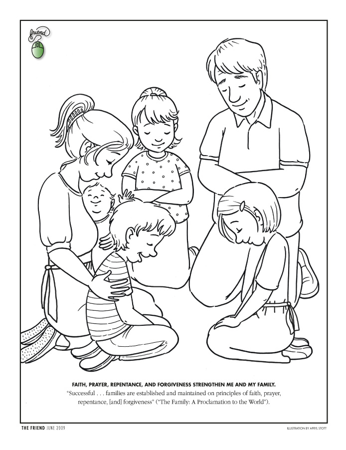 Coloring Page - Friend June 2009 - friend