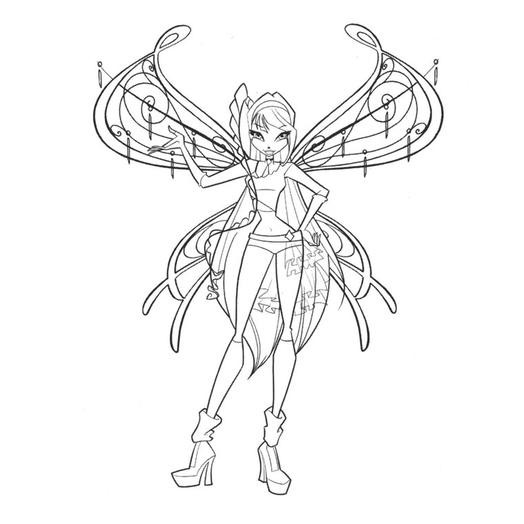 maxalae: Winx Club Believix Colouring Pages