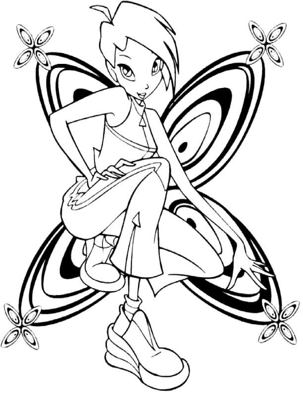 Winx Da Colorare Fantasy Tattoo