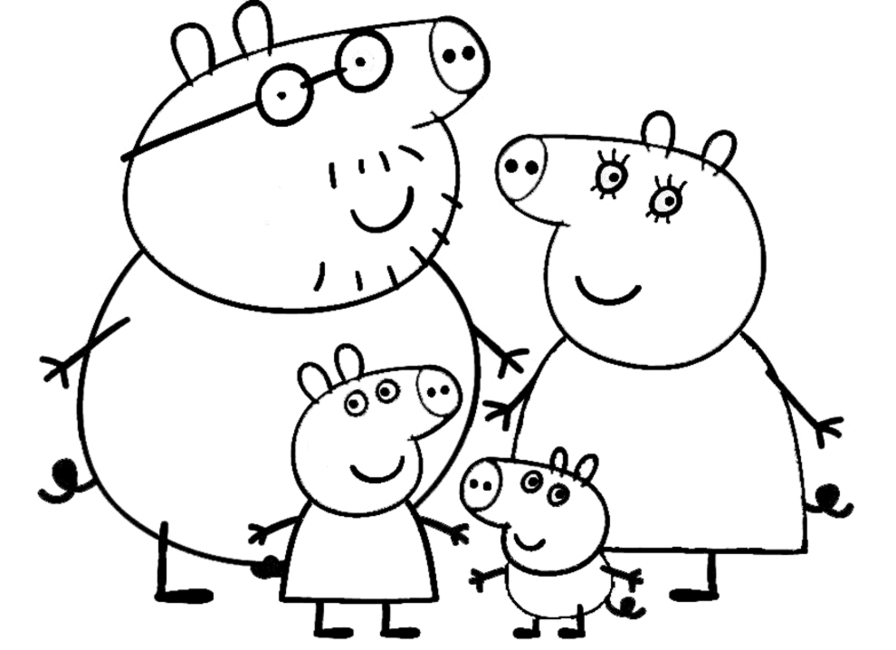 Peppa Pig Da Colorare Az Colorare