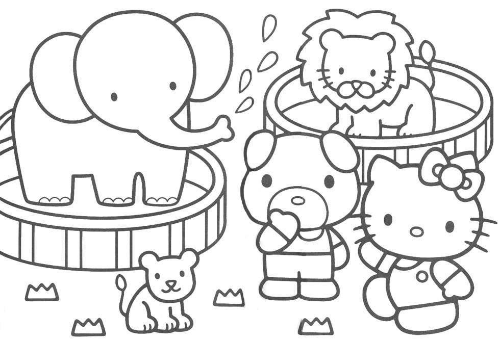 pics of hello kitty coloring pages | Maria Lombardic