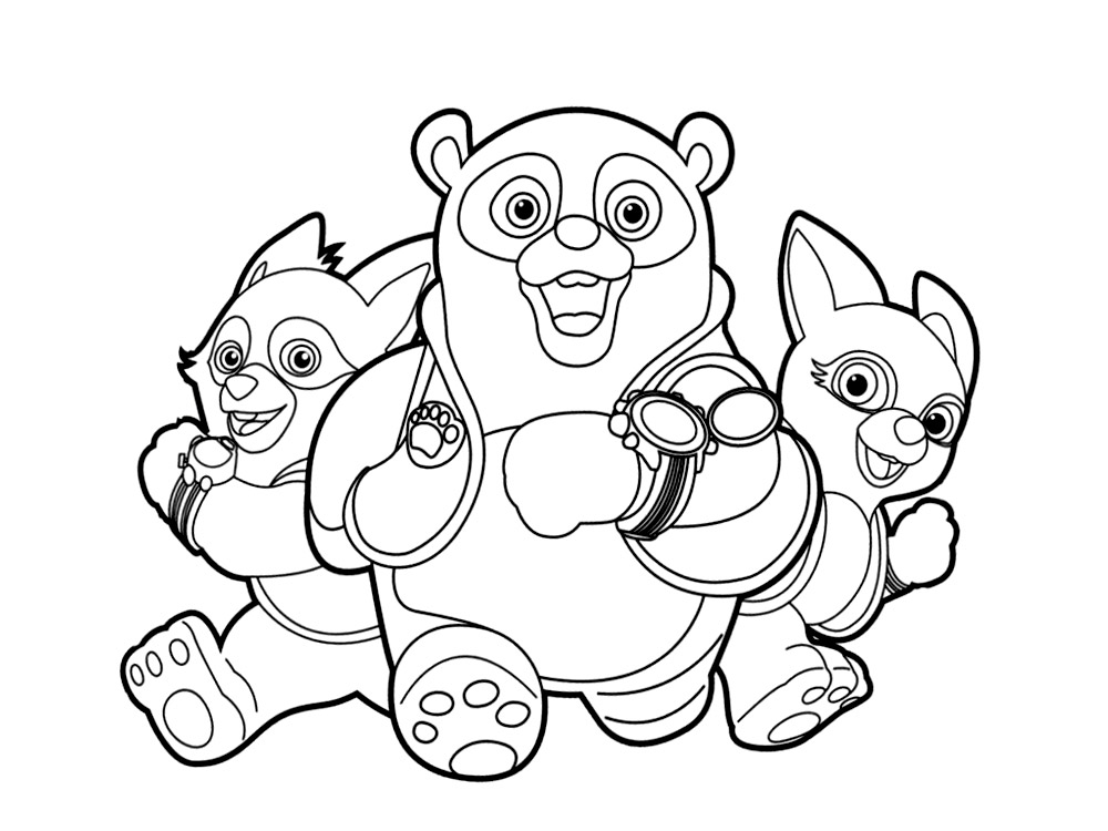 Oso Agente Especial Colouring Pages