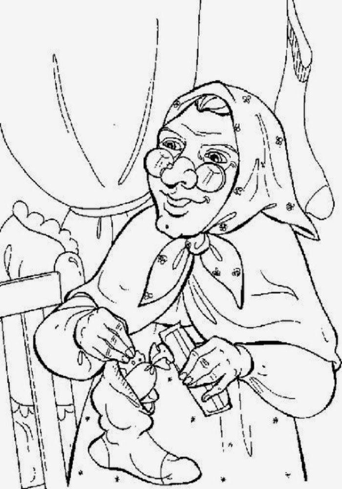 Disegni befana az colorare for La befana coloring page