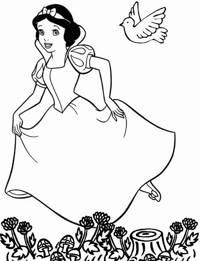 Biancaneve Colouring Pages (page 2)