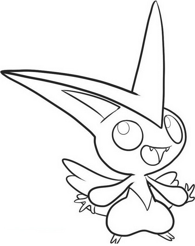 Disegni da colorare Pokemon: Pokemon Victini - Disegni da colorare
