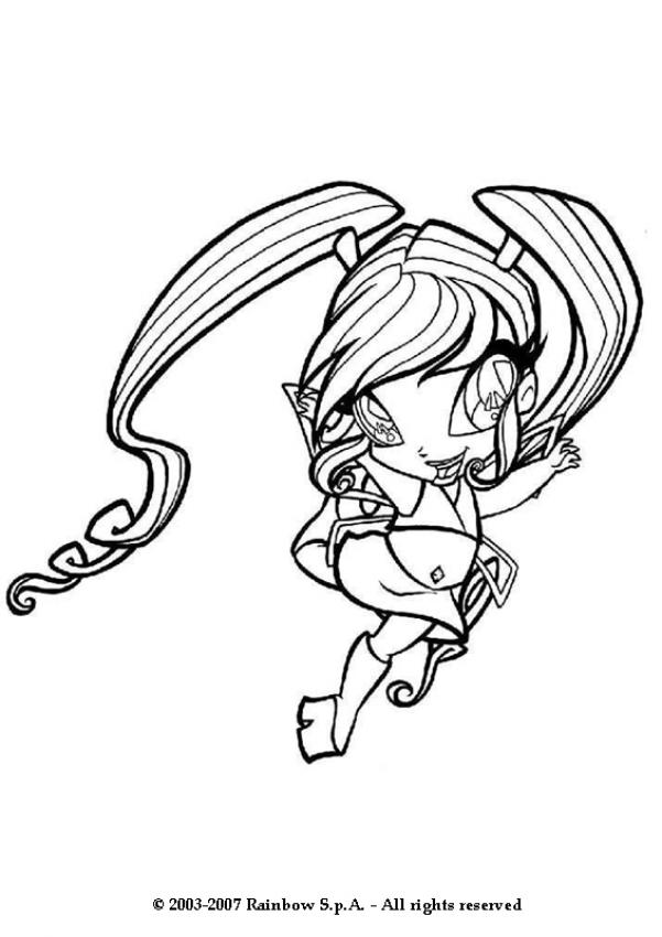 WINX CLUB coloring pages - The little fairy